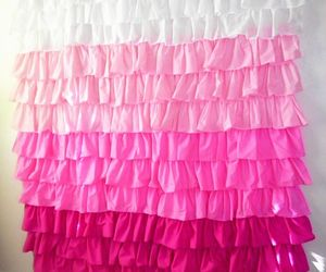 pink and shower curtain image