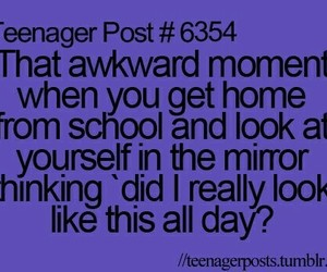 school, teenager post, and mirror image