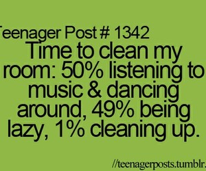 lol, cleaning, and teenager post image