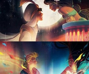 aladdin, cinderella, and little mermaid image