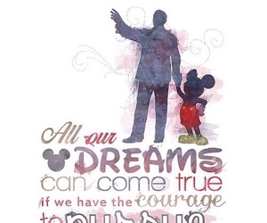 disney, dreams, and mickey mouse image