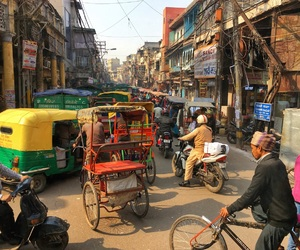 backpacking, crowded, and india image