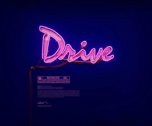 drive, pink, and neon image