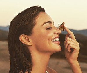 miranda kerr, butterfly, and smile image