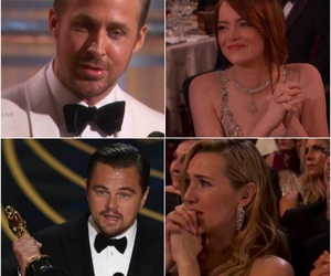 couple, emma stone, and Leo image