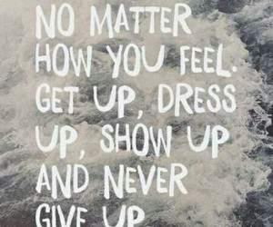 quotes, never give up, and motivation image