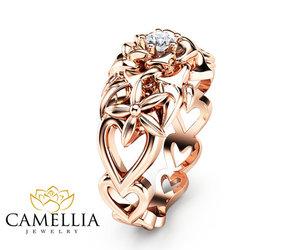 diamond ring, etsy, and heart shaped image