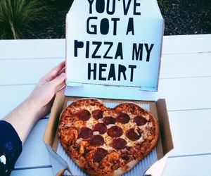 food, pizza, and happiness image