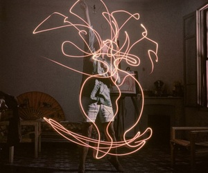 lights, Pablo Picasso, and paints with lights image