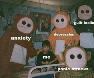 anxiety, bad, and depression image