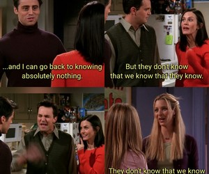 chandler, Joey, and lol image