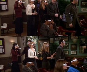 3d glasses, chandler, and monica image