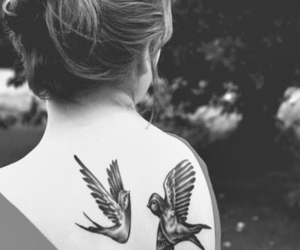 girl, tattoo, and beautiful image