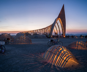 Burning Man, design, and festival image
