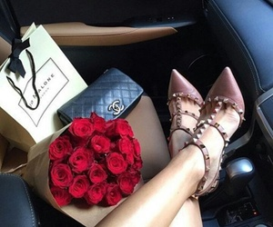 rose, chanel, and shoes image