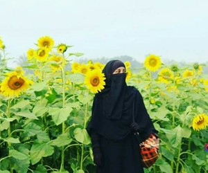 arab, flowers, and girl image