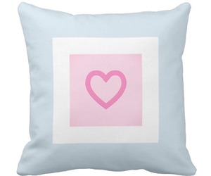 cushion, heart, and pastel image