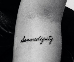 tattoo, serendipity, and love image