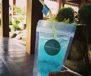 blue, ocean, and drink image