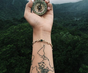 tattoo, travel, and adventure image