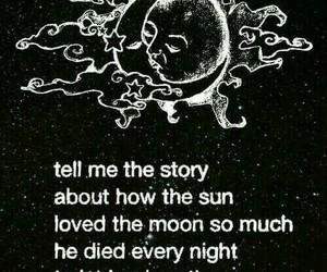english, moon, and love story image