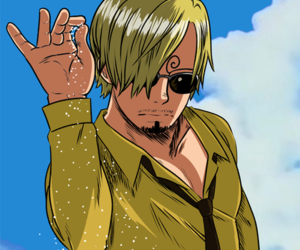 sanji, black leg, and mugiwara image