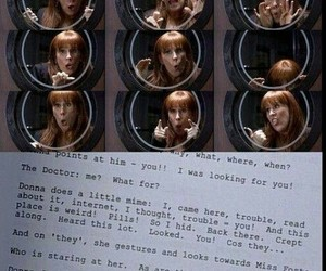doctor who, donna, and donna noble image