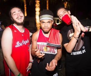 g-eazy, post malone, and chance the rapper image