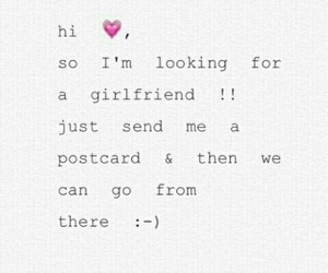 date, postcards, and girlfriend image