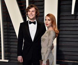 emma roberts, oscar, and evan peters image
