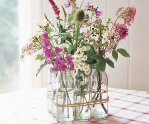 decorations, flowers, and jar image