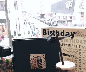 birthday, city, and coffee image