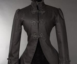 coat, goth, and gothic image