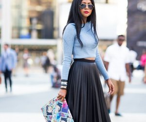 fashion, outfit, and hairstyle image