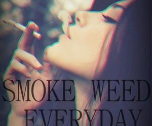 everyday, girl, and smoke image