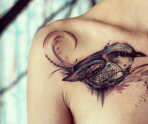 tattoo, bird, and art image