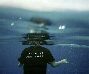 feelings, water, and blue image
