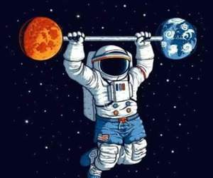 astronaut, space, and astronauta image