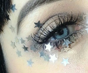 stars, aesthetic, and eye image