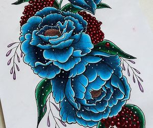 art, berries, and draw image