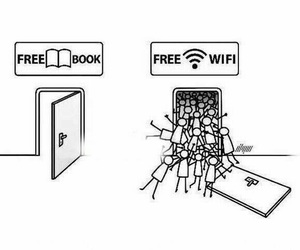 book, wifi, and free image