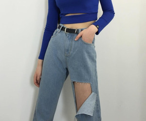 fashion, jeans, and kfashion image
