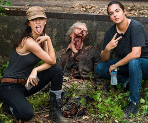 the walking dead, christian serratos, and twd image