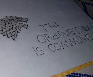 graduation, game of thrones, and winter is comming image