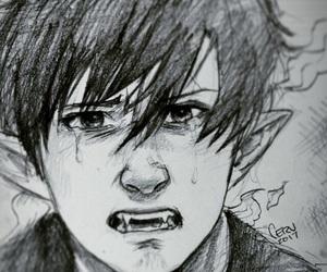 pain, rin okumura, and sad image