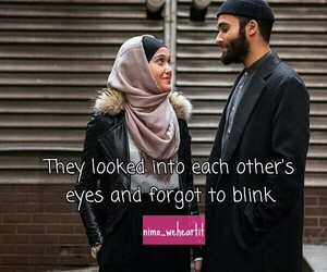 eyes, cute love quotes, and muslim couple image