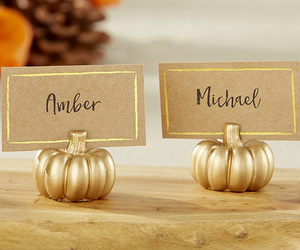 placecard holders, place card holders, and gold place card holders image