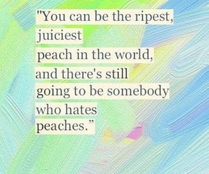 quote, peach, and life image