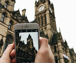 city hall, iphone, and manchester image