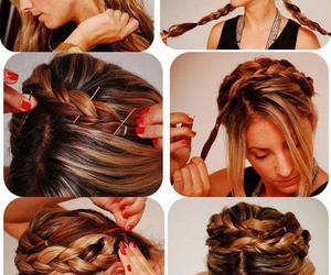 blonde, braids, and crown image